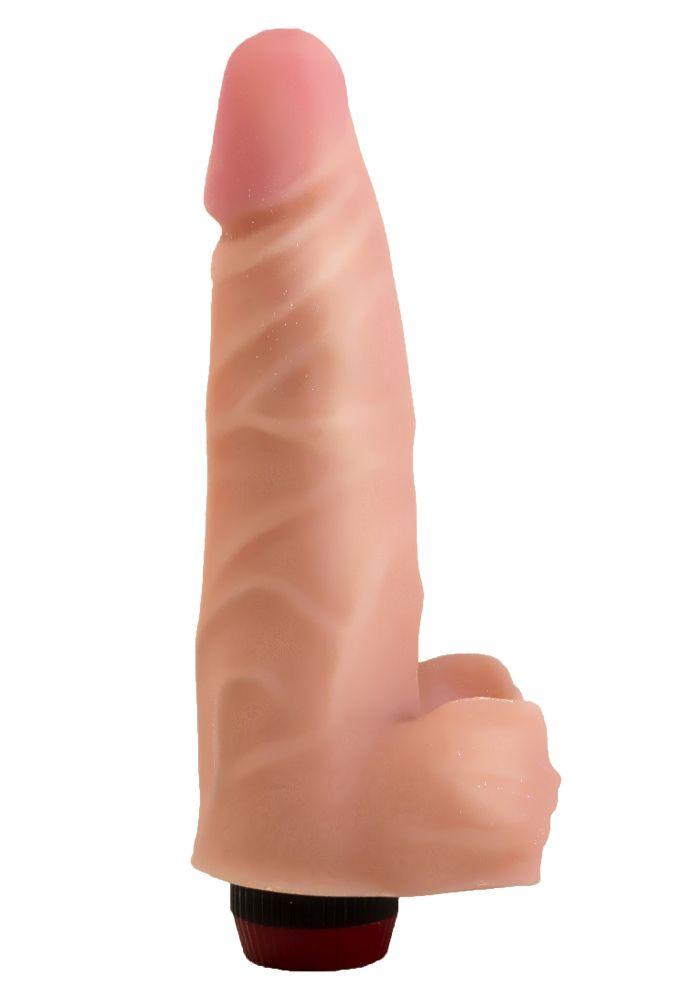 Реалистичный виброфаллос из неоскин - 18,5 см. фото