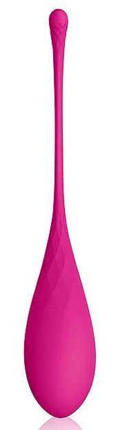 Розовый каплевидный вагинальный шарик со шнурочком фото