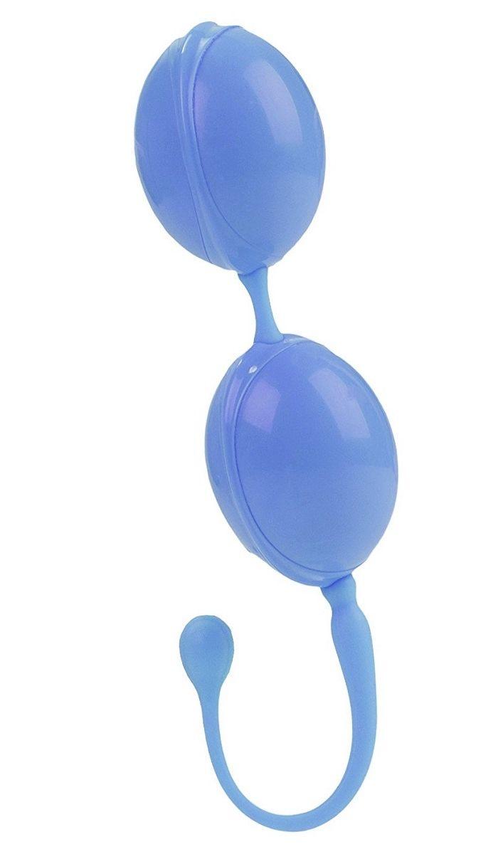 Голубые каплевидные вагинальные шарики L amour Premium Weighted Pleasure System.
