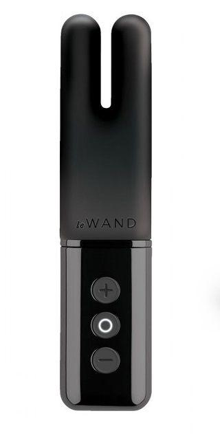 Чёрный двухмоторный мини-вибратор Le Wand Deux.