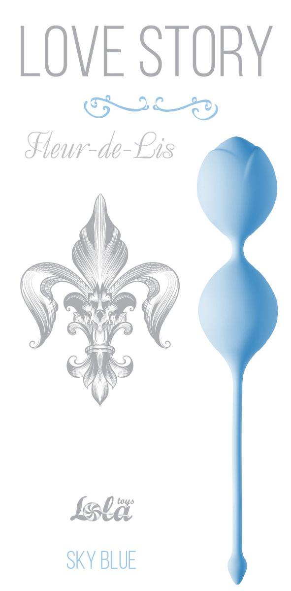 Голубые вагинальные шарики Fleur-de-lisa фото