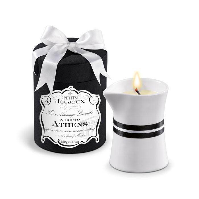 Массажное масло в виде большой свечи Petits Joujoux Athens с ароматом муската и пачули фото
