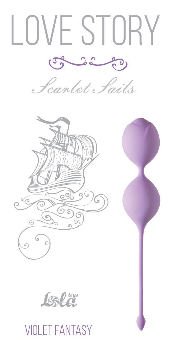 Сиреневые вагинальные шарики Scarlet Sails фото