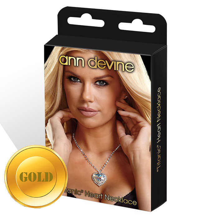 Золотистая цепочка с сердцем  TITANIC  Heart Necklace.