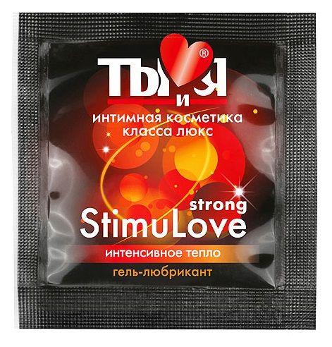 Разогревающий гель-лубрикант Stimulove Strong в одноразовой упаковке - 4 гр. фото