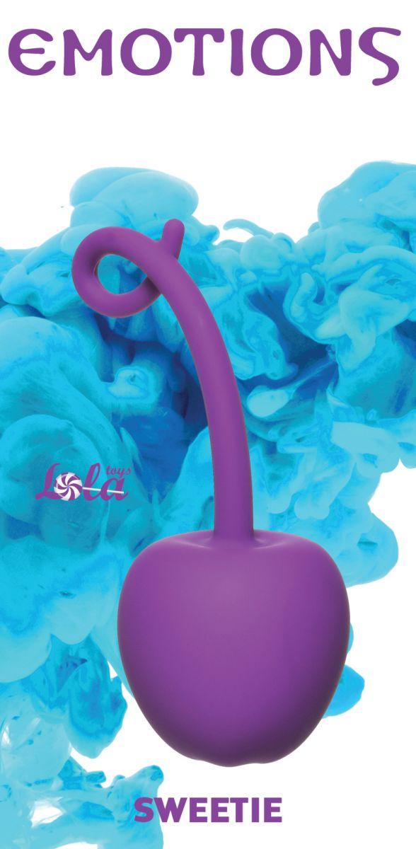 Фиолетовый стимулятор-вишенка со смещенным центром тяжести Emotions Sweetie фото