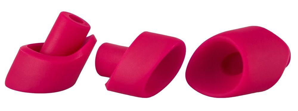 Набор из 3 насадок увеличенного размера для вакуумного стимулятора Womanizer 2GO.