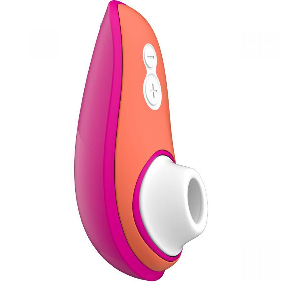 Ярко-розовый бесконтактный клиторальный стимулятор Womanizer Liberty.