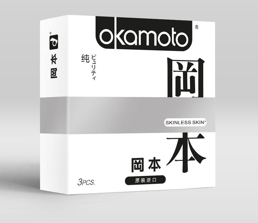 Презервативы OKAMOTO Skinless Skin Purity - 3 шт. фото