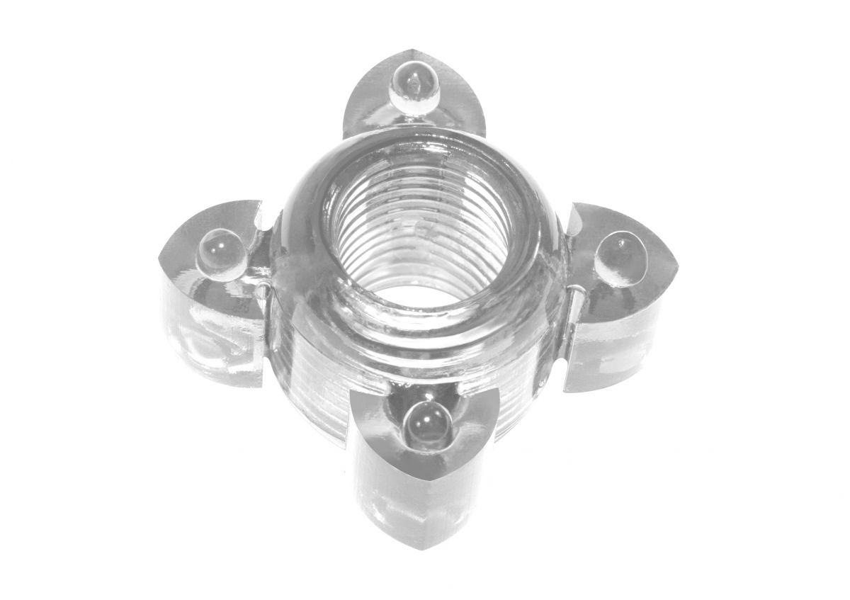 Прозрачное эрекционное кольцо Rings Screw фото