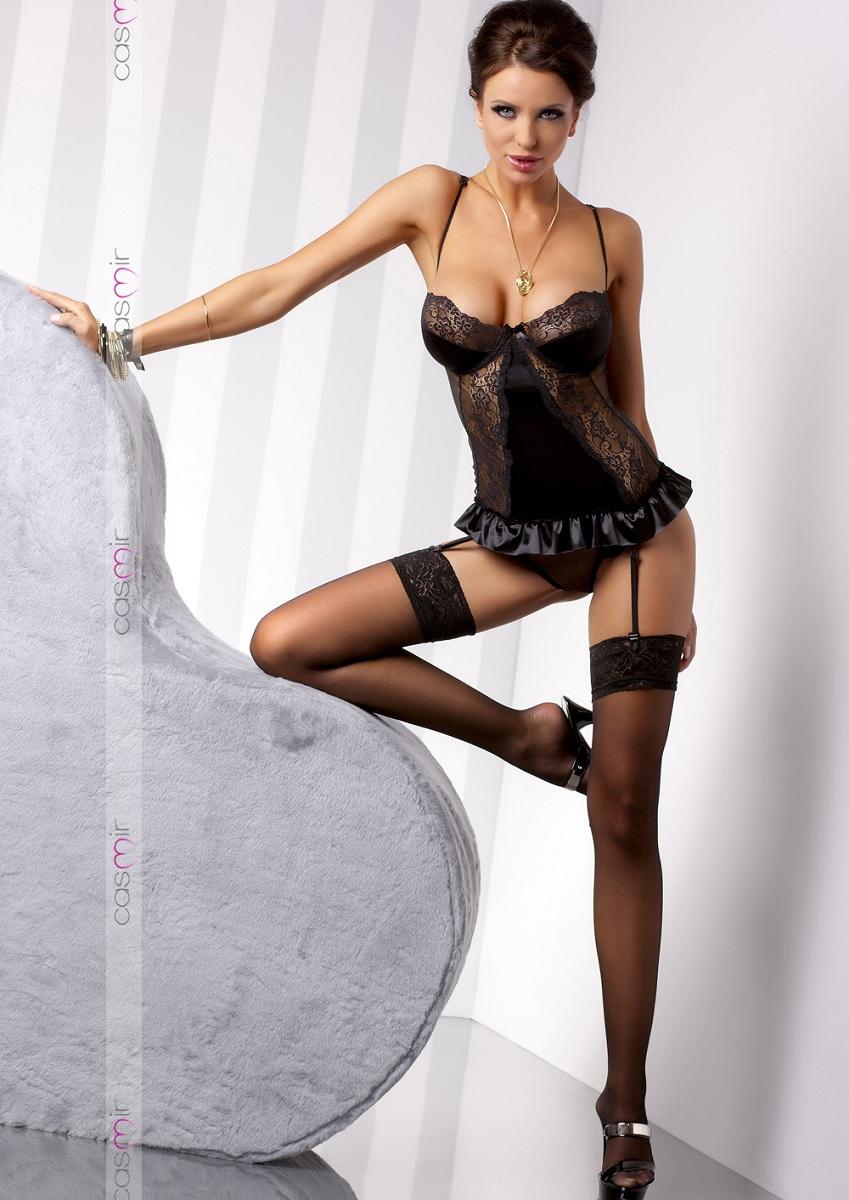 Корсаж Blanchet с озорными оборками и кружевами фото