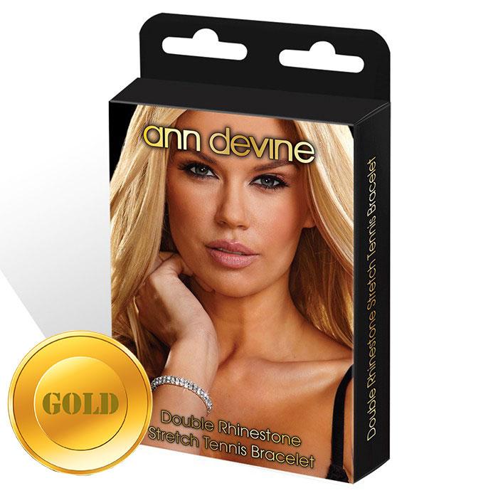 Браслет из золотистых кристаллов Stretch Tennis Bracelet.
