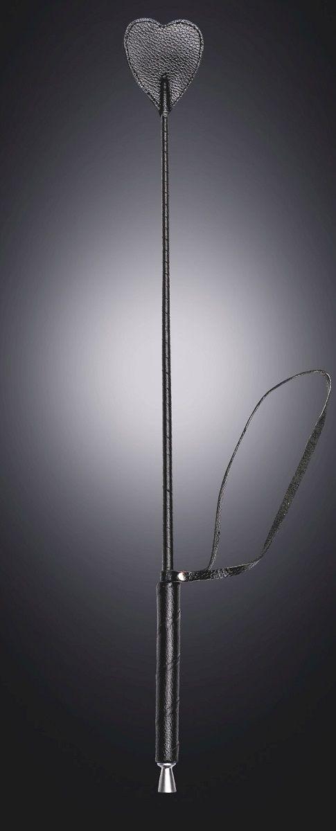 Чёрный стек с шлепком-сердечком - 70 см. фото