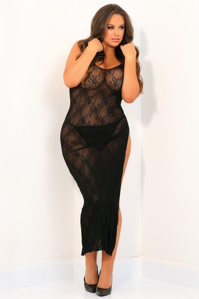 Пикантное длинное платье с геометрическим рисунком фото