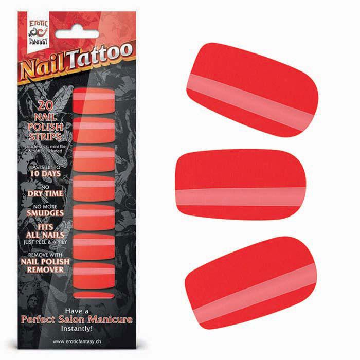 Набор лаковых полосок для ногтей Красный шик Nail Foil.