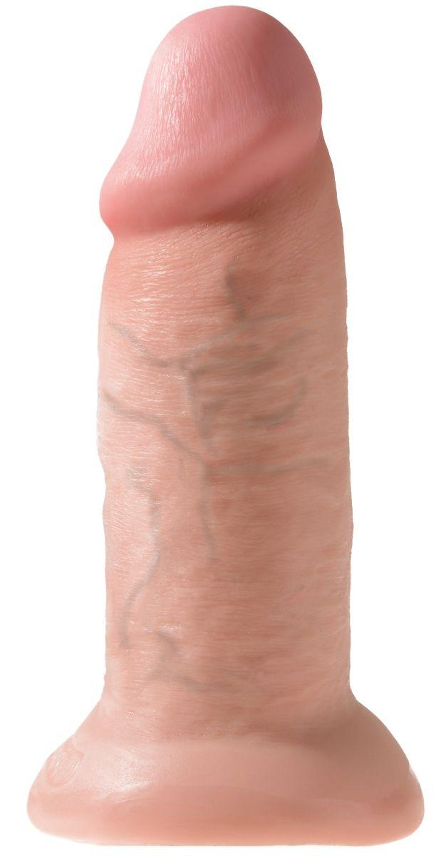 Телесный фаллоимитатор King Cock 10 Chubby - 25 см. фото
