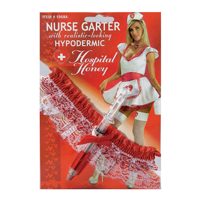 Подвязка медсестры со шприцом фото
