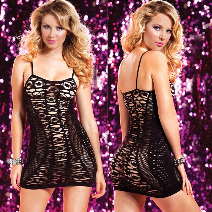 Платье со сложным ажурным рисунком фото