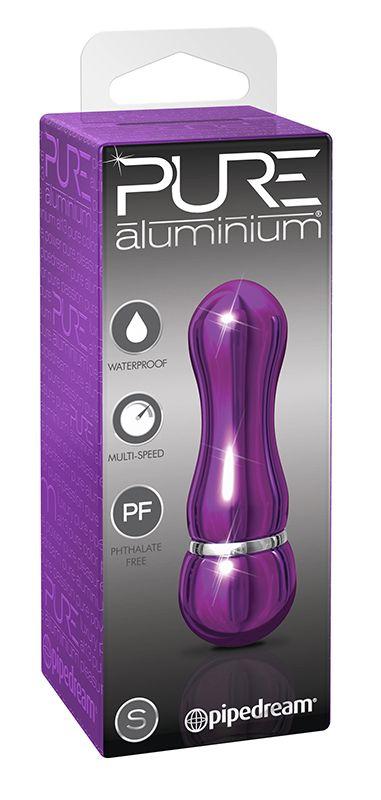Фиолетовый алюминиевый вибратор PURPLE SMALL - 75 см..