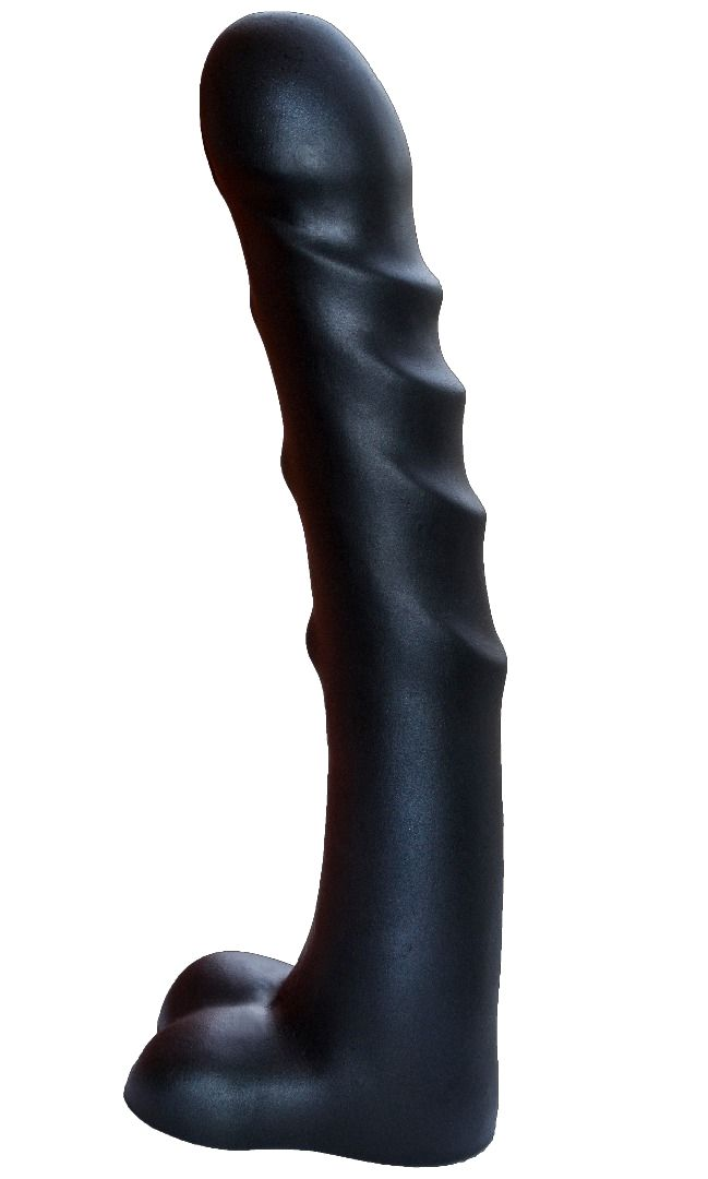 Чёрный фаллоимитатор-гигант PREDATOR - 37 см..