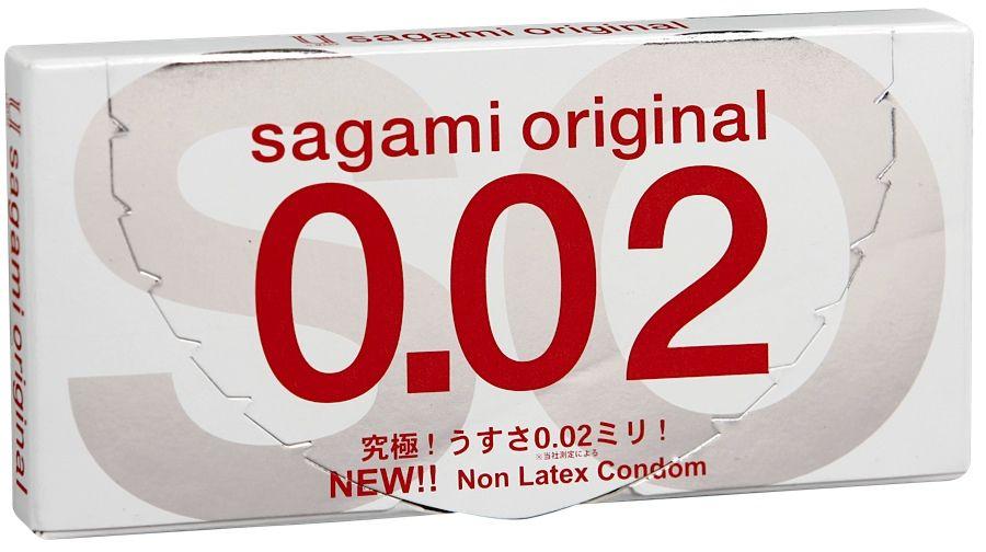 Ультратонкие презервативы Sagami Original - 2 шт. фото