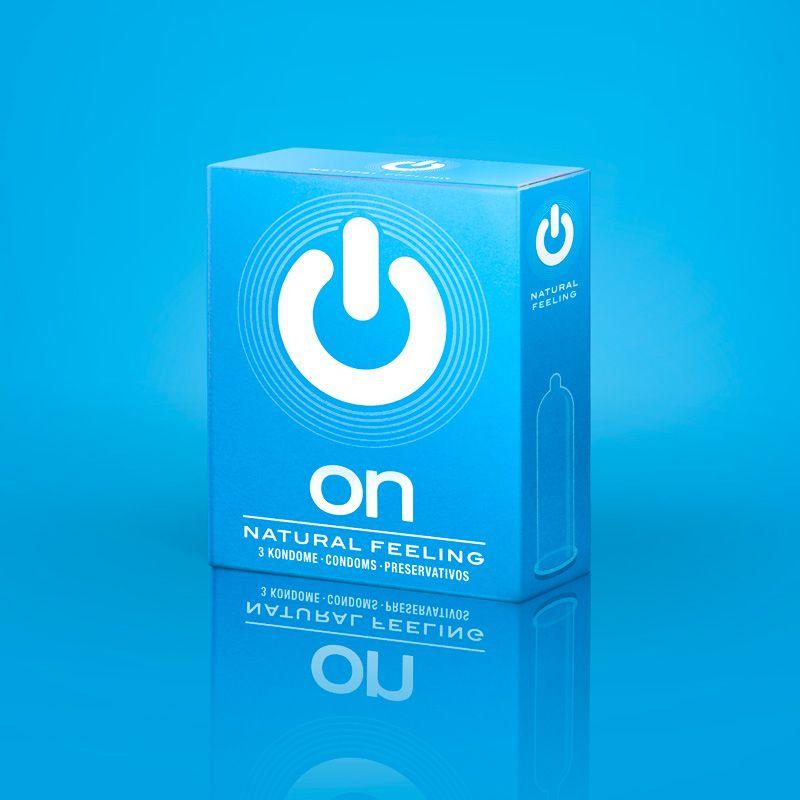 Классические презервативы ON) Natural feeling - 3 шт. фото
